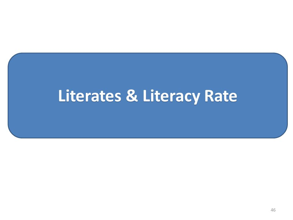 Literates & Literacy Rate 46