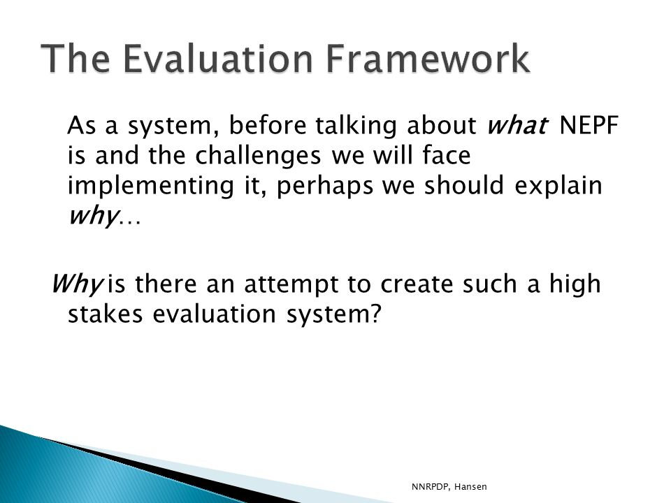 In regards to NEPF, how can we support the: 1.