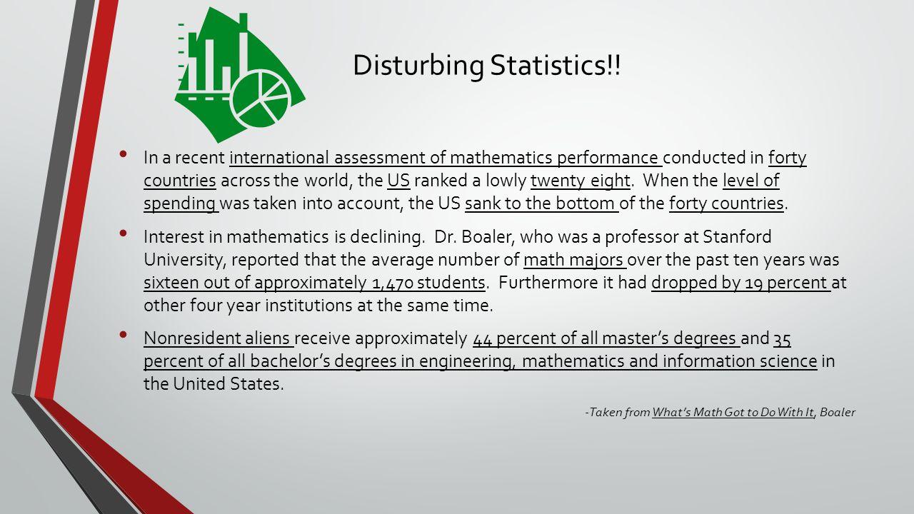 Disturbing Statistics!.
