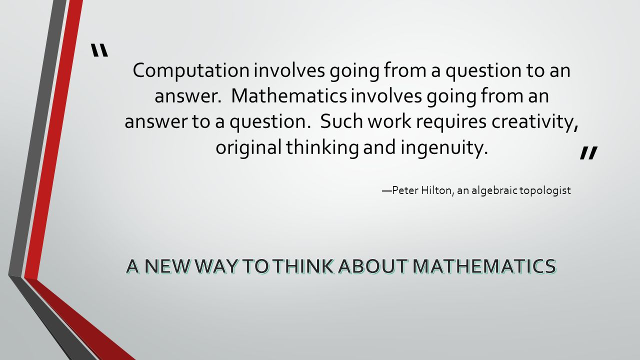 Computation involves going from a question to an answer.