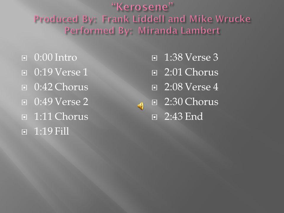  0:00 Intro  0:08 Verse 1  1:01 Chorus  1:30 Verse 2  1:55 Chorus  2:24 Verse 3  3:05 Chorus  3:40 End