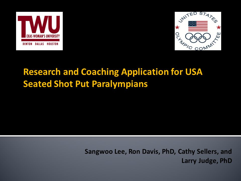 Research and Coaching Application for USA Seated Shot Put Paralympians