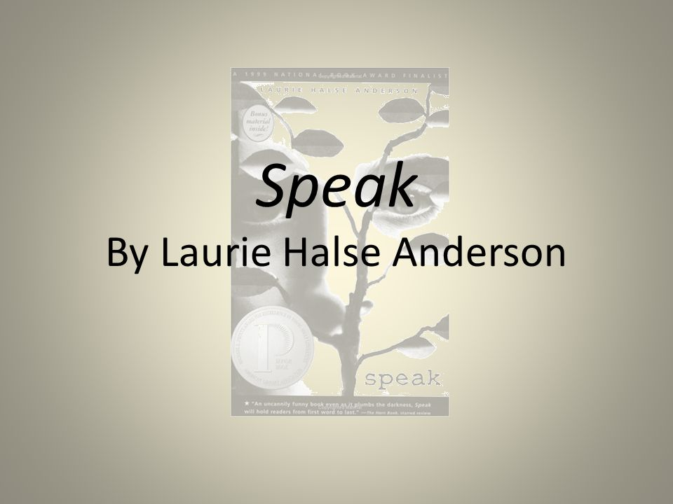 ABOUT THE AUTHOR Laurie Halse Anderson is the New York Times-bestselling author who writes for kids of all ages.