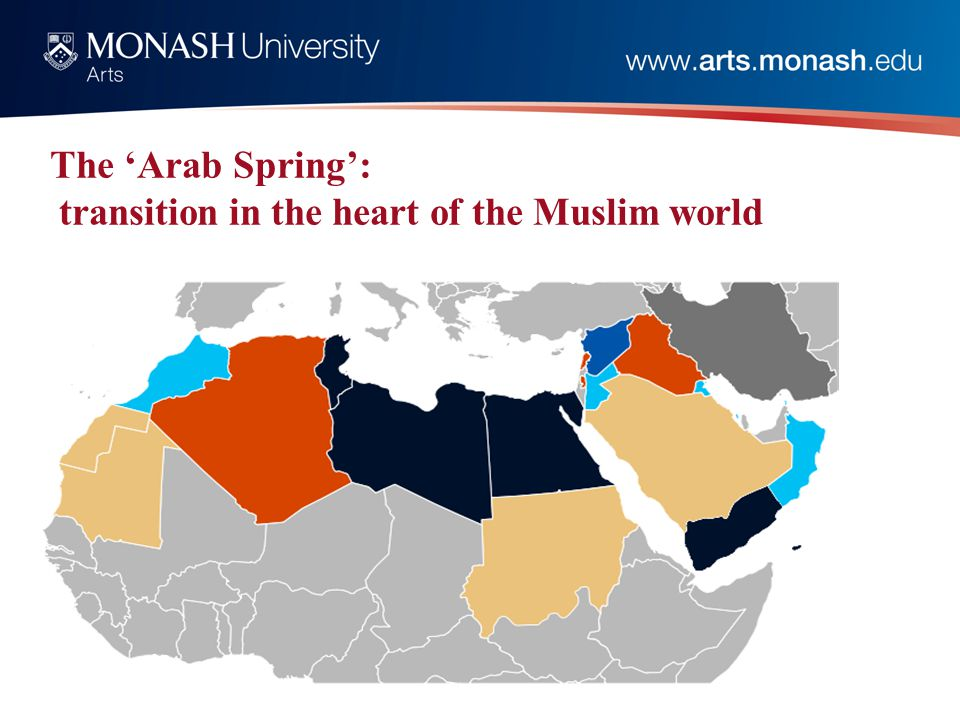 The 'Arab Spring': transition in the heart of the Muslim world
