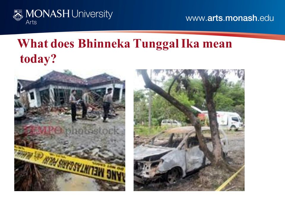 What does Bhinneka Tunggal Ika mean today