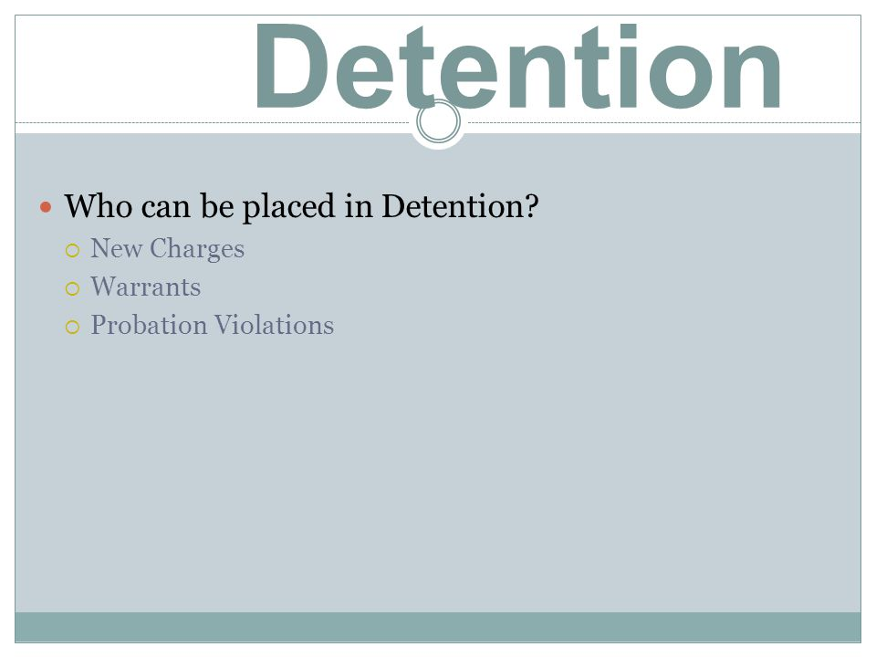 DOES AN ARREST MEAN DETENTION?