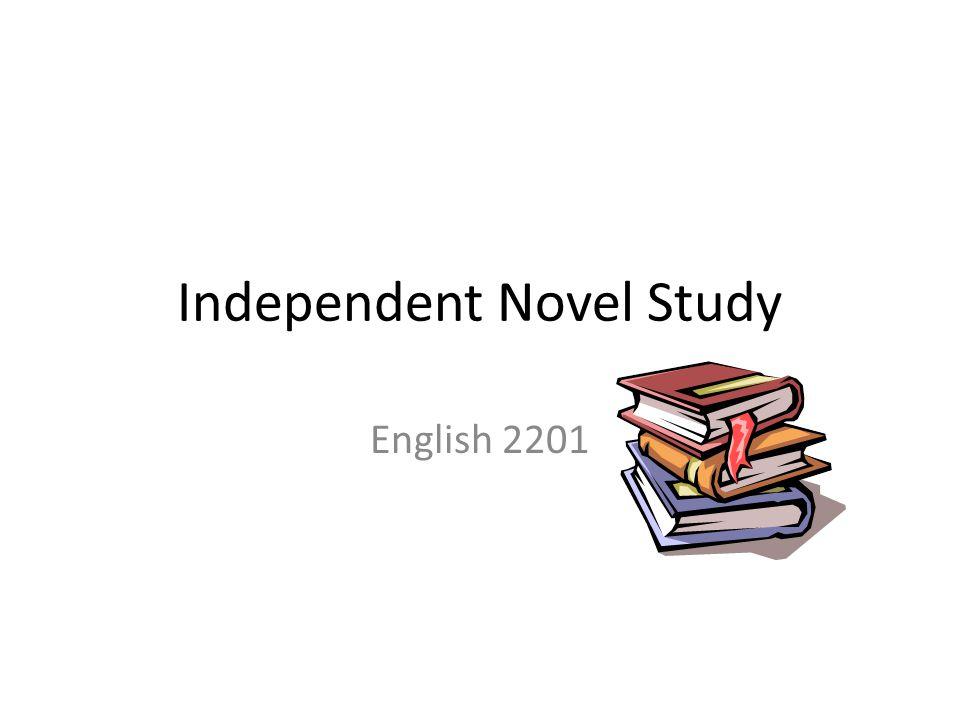 Independent Novel Study English 2201