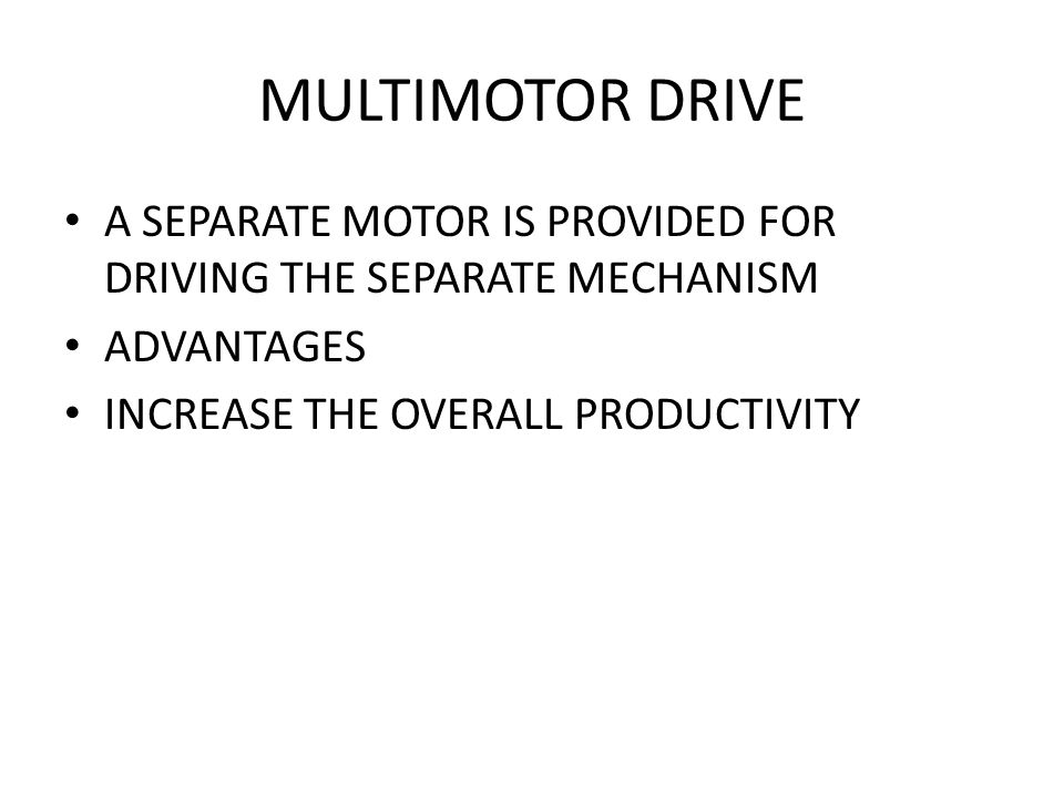 FACTORS AFFECTING THE SELECTION OF DRIVE LIMIT OF SPEED RANGE EFFICIENCY BRAKING STARTING REQUIREMENTS POWER FACTOR LOAD FACTOR AVAILABILITY OF SUPPLY ECONOMICAL ASPECTS