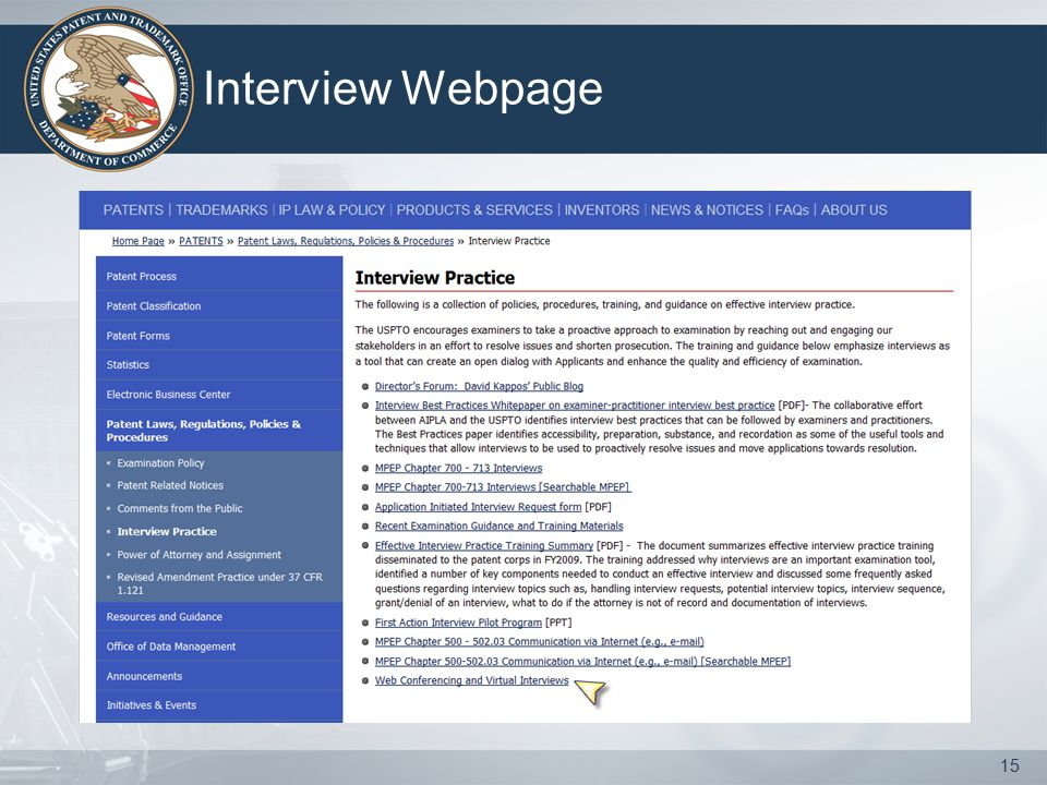 Interview Webpage 15