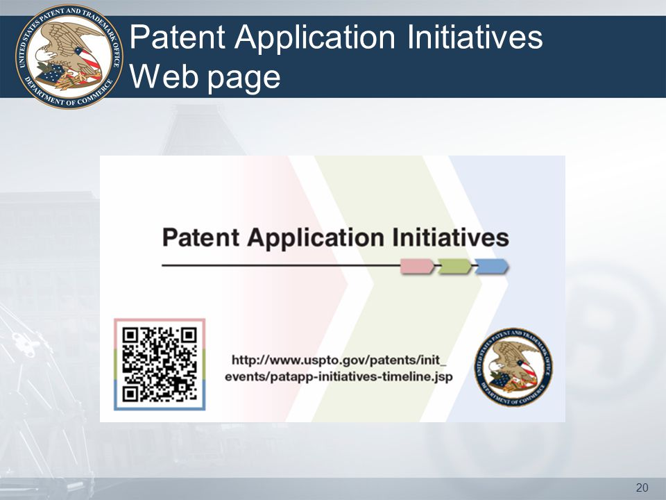 Patent Application Initiatives Web page 20