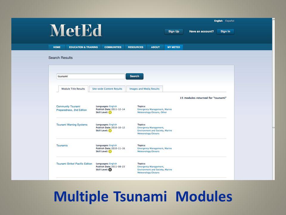 Multiple Tsunami Modules