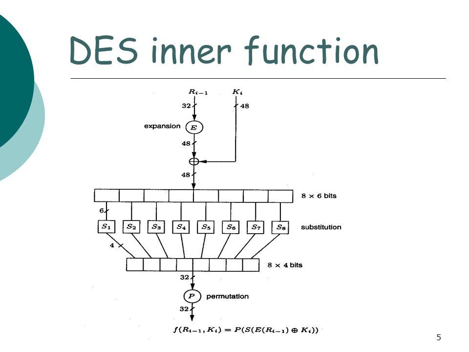 6 DES computation path