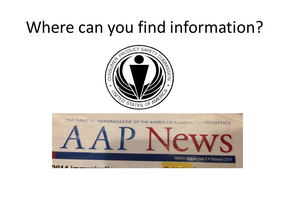 Where can you find information?