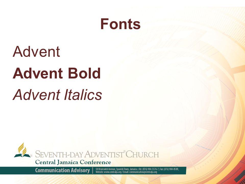 Fonts Advent Advent Bold Advent Italics