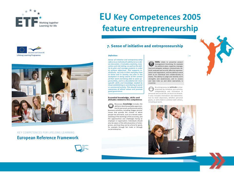 EU Key Competences 2005 feature entrepreneurship