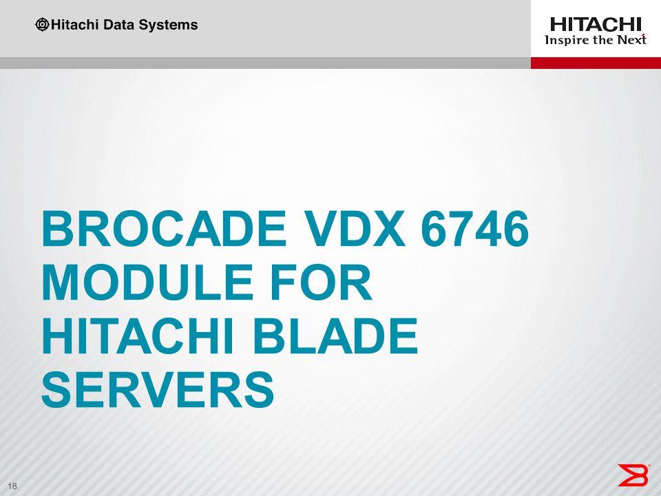 18 BROCADE VDX 6746 MODULE FOR HITACHI BLADE SERVERS