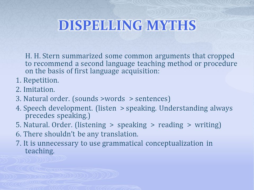 1.REPETITION: In language teaching, we must practice and practice, again and again.