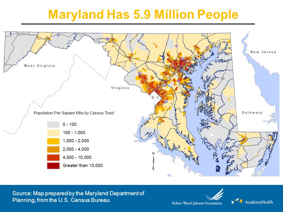 Maryland Coverage Initiatives: Exchange and Medicaid Expansion As of 1/4/14: 162,000 Marylanders are on track to receive health coverage under ACA 20,358 into Qualified Health Plans 91,570 moved into Medicaid from Primary Adult Care (PAC) program 50,522 found eligible for Medicaid program through Exchange –26,500 now enrolled/remainder on track (retro to 1/1) Source: Maryland Health Benefit Exchange, January 10, 2014.