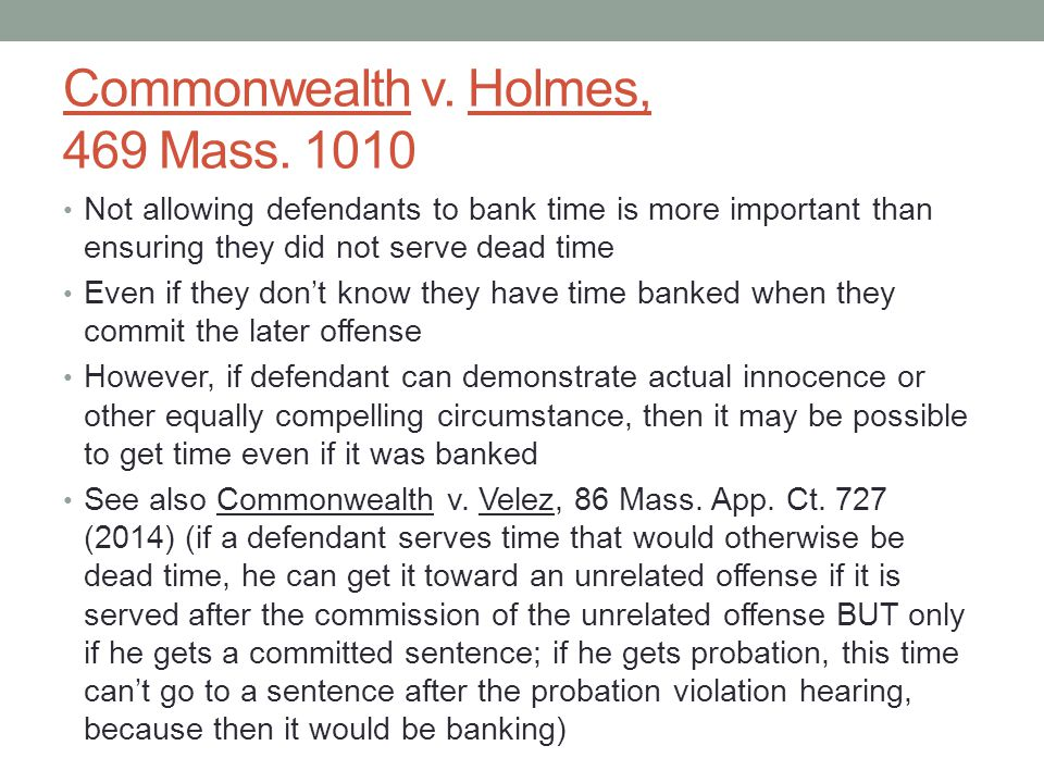 Commonwealth v. Holmes, 469 Mass.