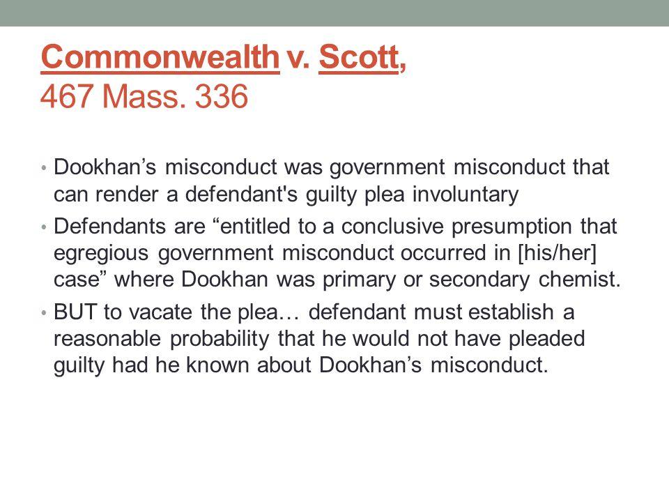 Commonwealth v. Scott, 467 Mass.