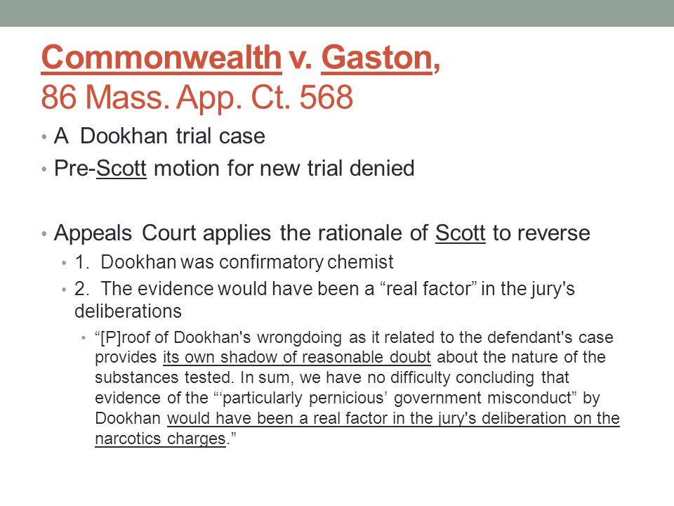 Commonwealth v.Gaston, 86 Mass. App. Ct.