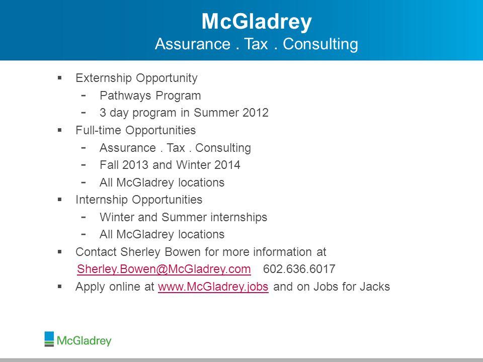 McGladrey Assurance.Tax.