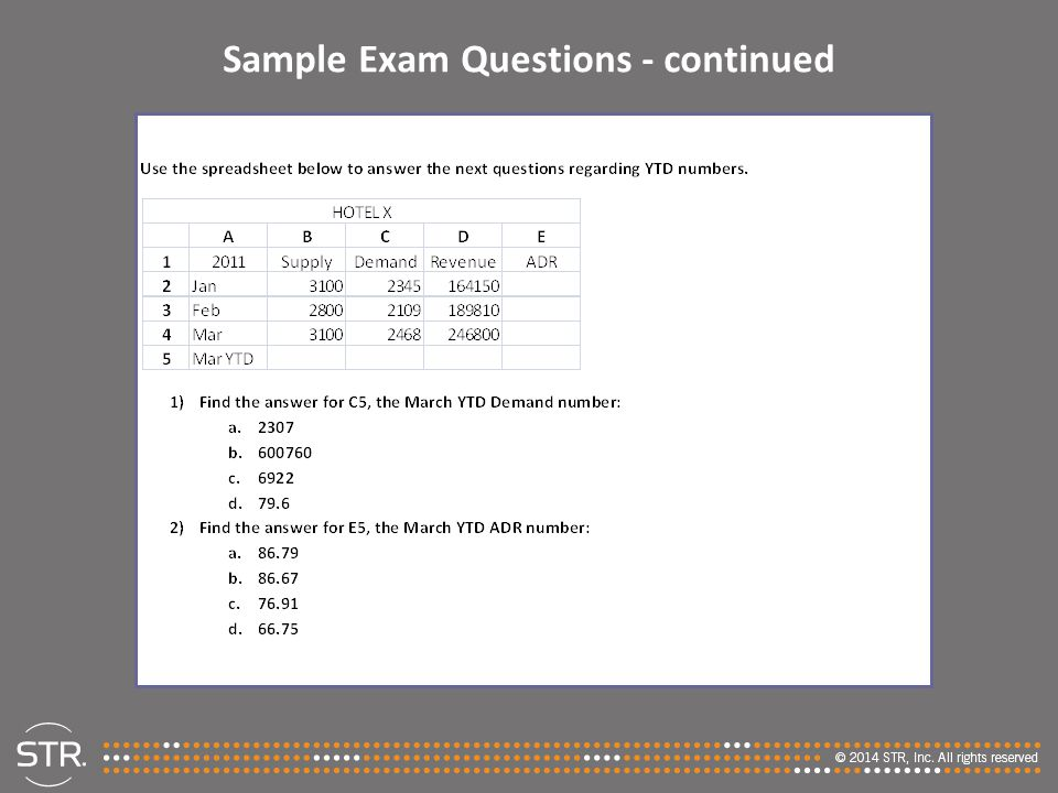 Sample Exam Questions - continued