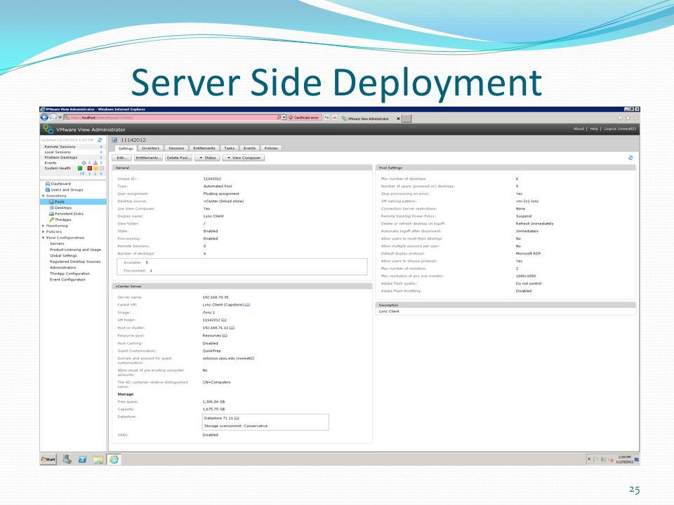 Server Side Deployment 25