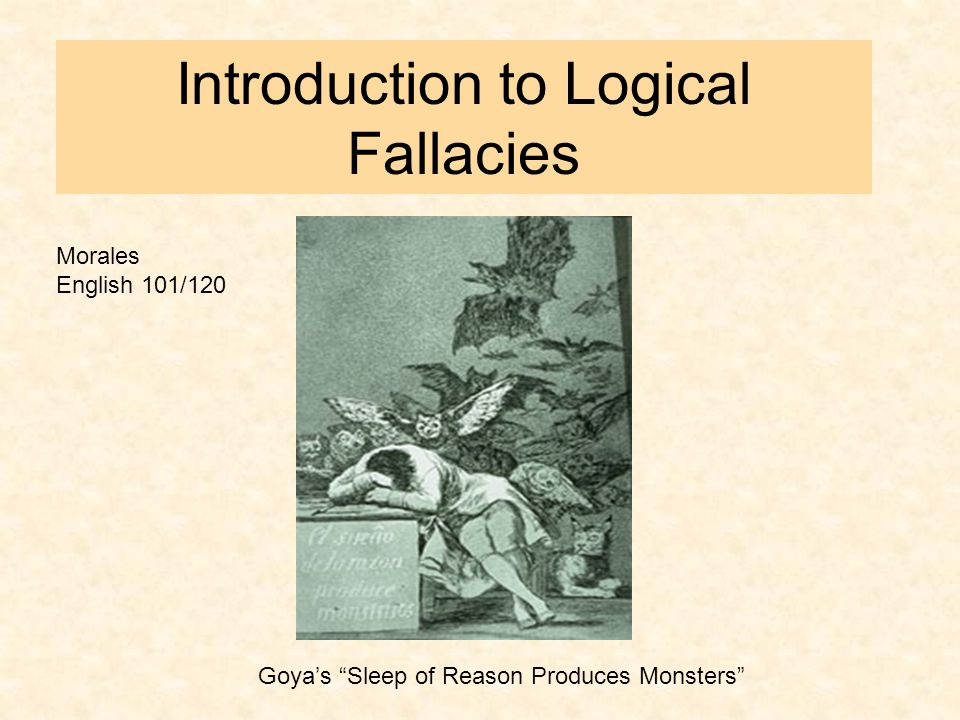 Why Study Logical Fallacies.