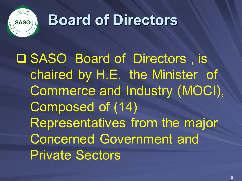 17 Saudi Technical Council Of Standards – Tasks- Cont.