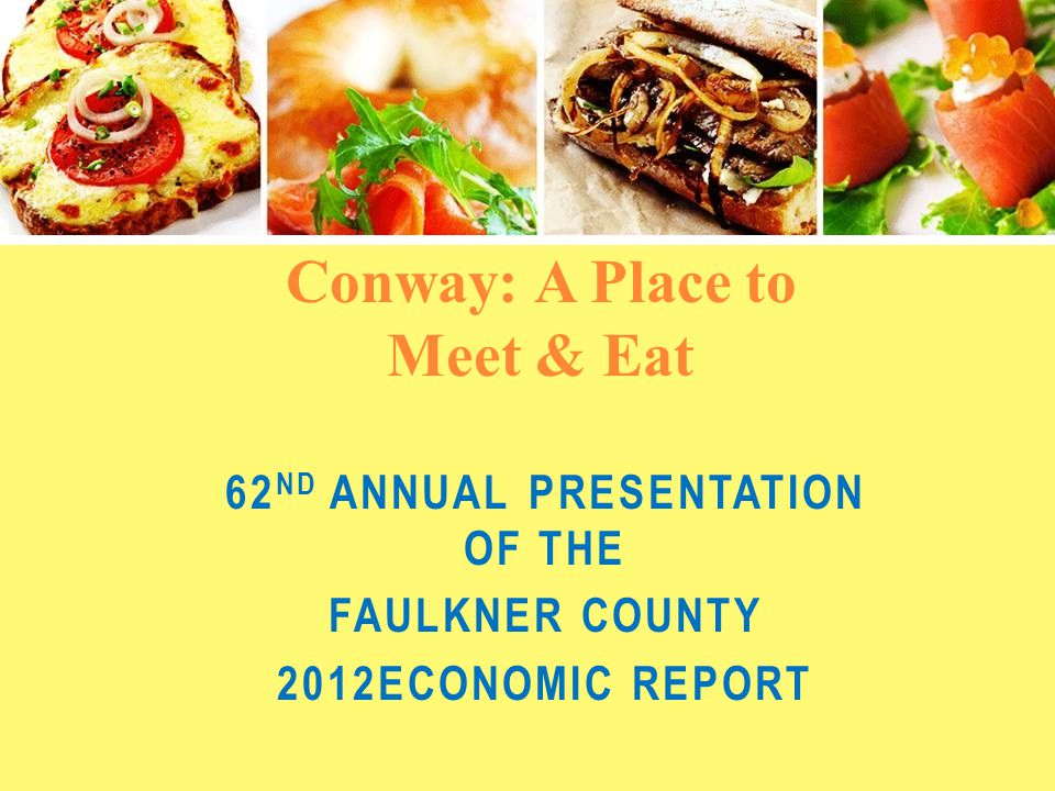 Sales Tax Receipts Faulkner County ½% Sales Tax: Conway 1% Sales Tax: YearAmount Change Over Previous Year 2012$8,146,364$334,993 20117,811,371338,398 20107,472,974145,899 YearAmount Change Over Previous Year 2012$12,810,355$501,714 201112,308,641205,743 201012,102,898546,564