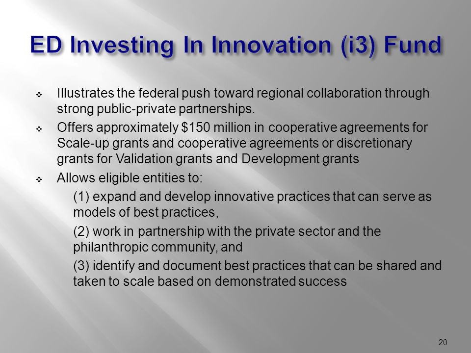  Illustrates the federal push toward regional collaboration through strong public-private partnerships.