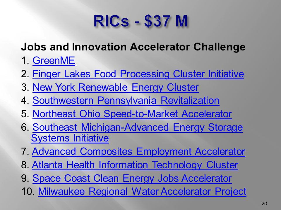 Jobs and Innovation Accelerator Challenge 1. GreenMEGreenME 2.
