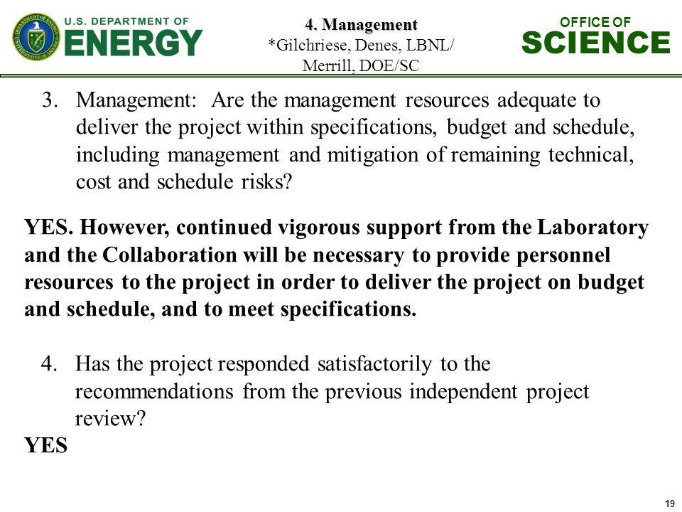 19 4. Management 4.