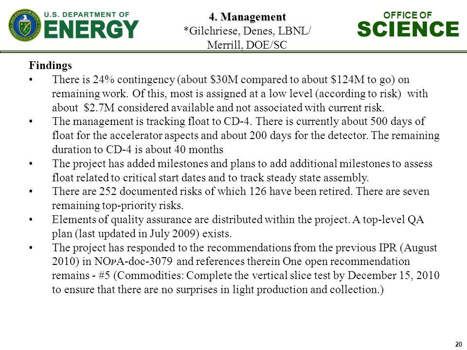 20 4. Management 4.