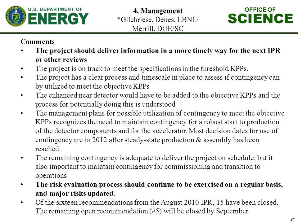 21 4. Management 4.