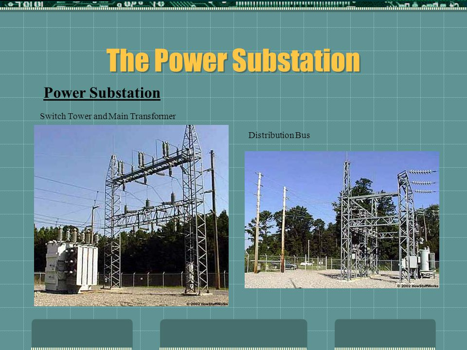 The Power Substation Power Substation Switch Tower and Main Transformer Distribution Bus