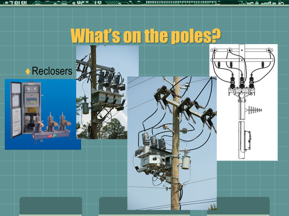 What's on the poles?  Reclosers
