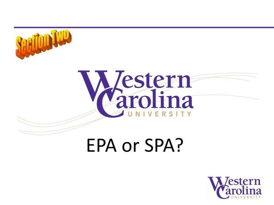 EPA or SPA?