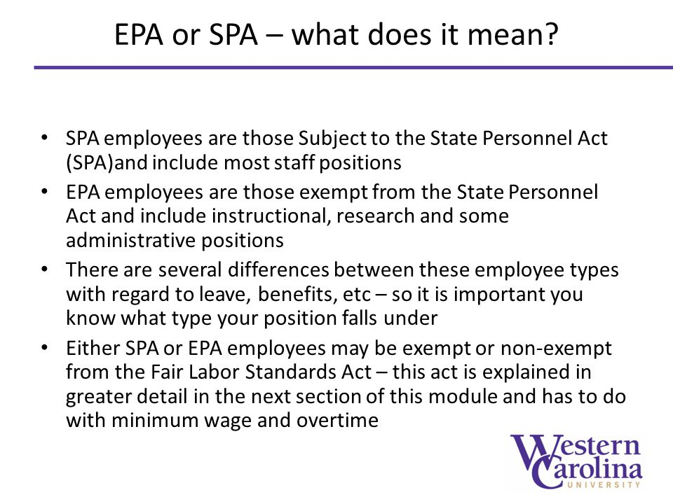 EPA or SPA – what does it mean.