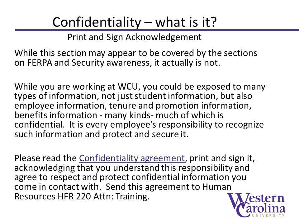 Confidentiality – what is it.