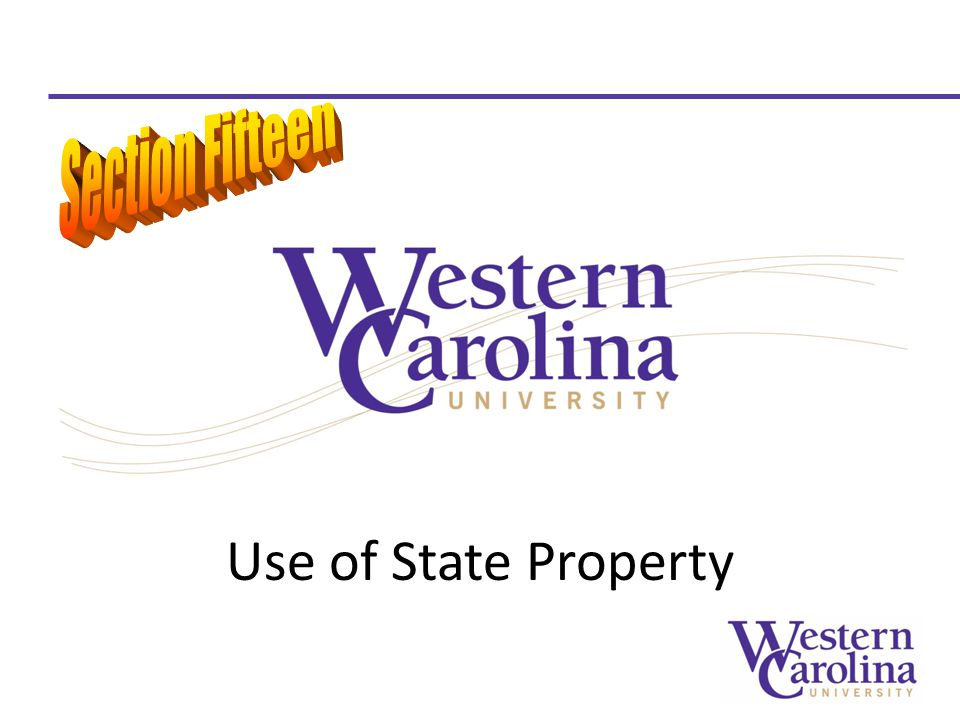 Use of State Property