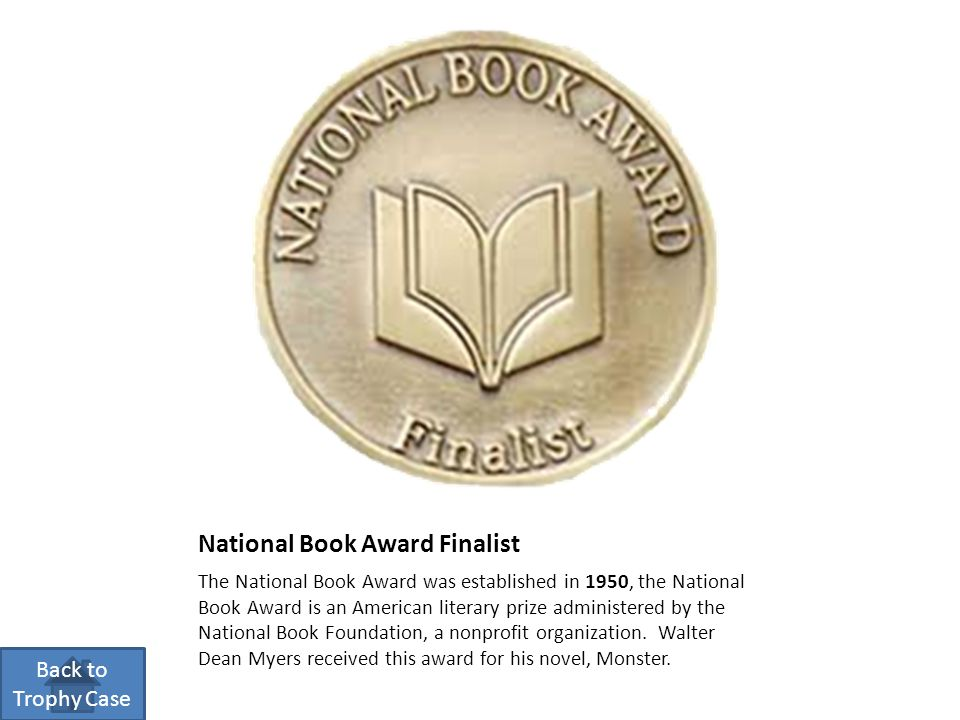 National Book Award Finalist The National Book Award was established in 1950, the National Book Award is an American literary prize administered by the National Book Foundation, a nonprofit organization.