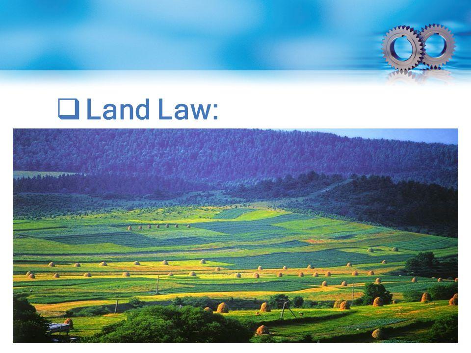  Land Law: