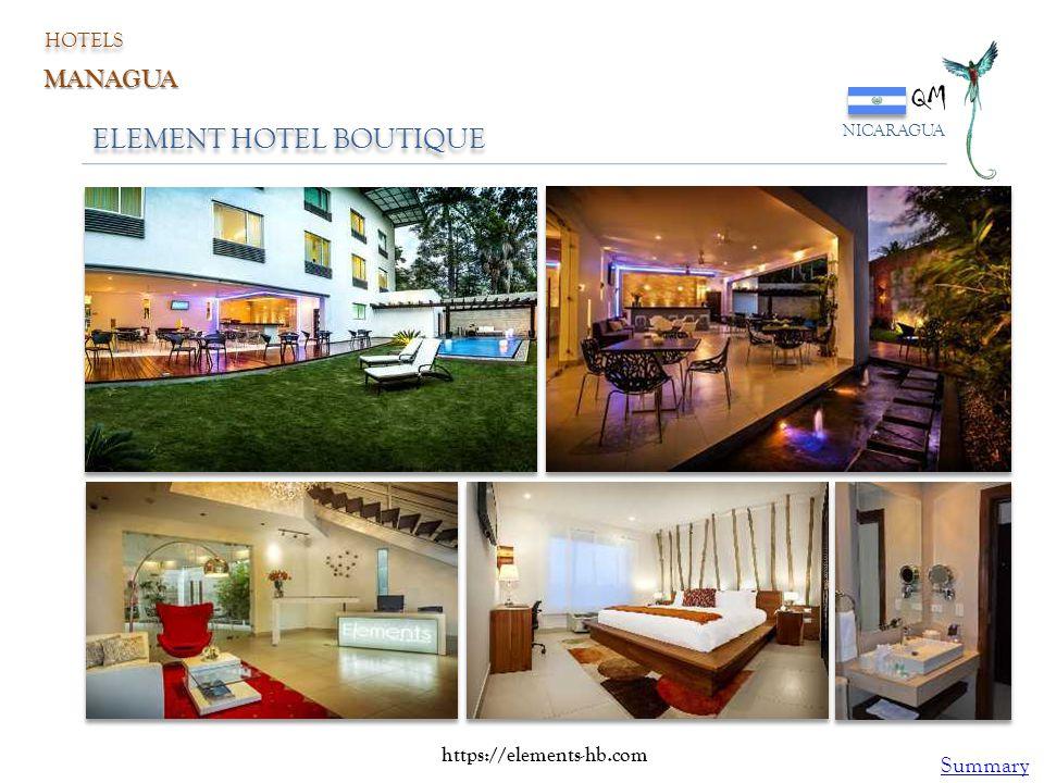 ELEMENT HOTEL BOUTIQUE QM NICARAGUA HOTELS MANAGUA https://elements-hb.com Summary