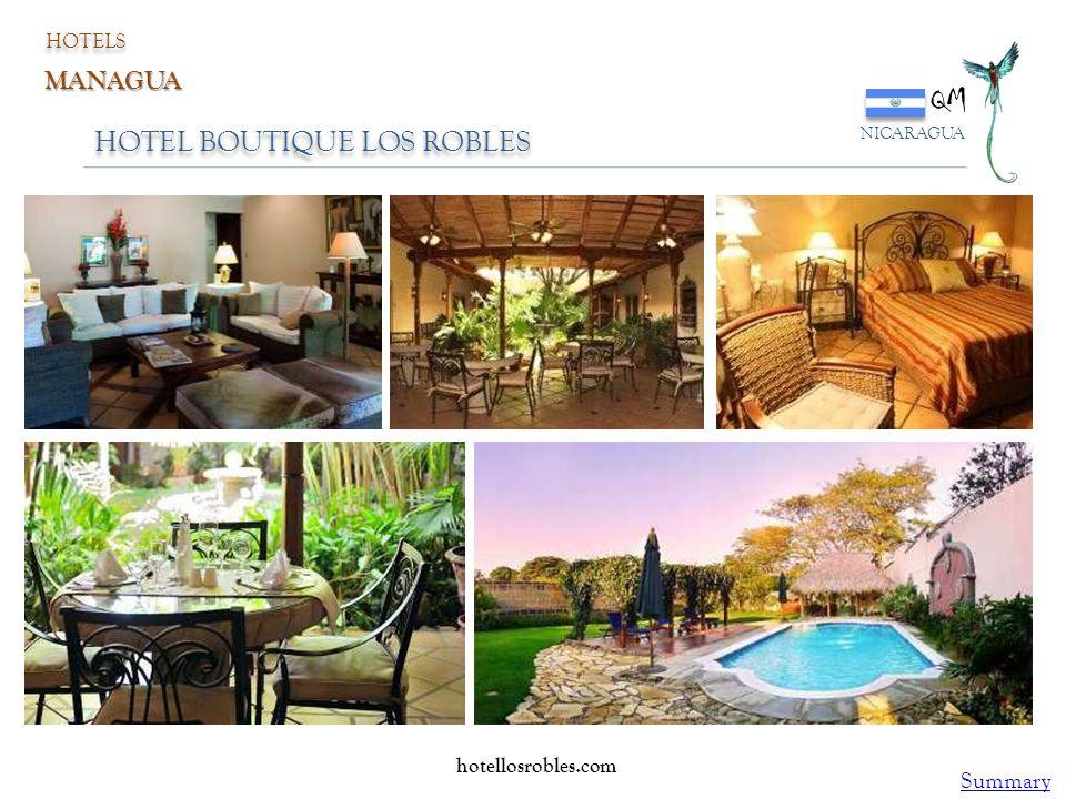 HOTEL BOUTIQUE LOS ROBLES QM NICARAGUA HOTELS MANAGUA hotellosrobles.com Summary