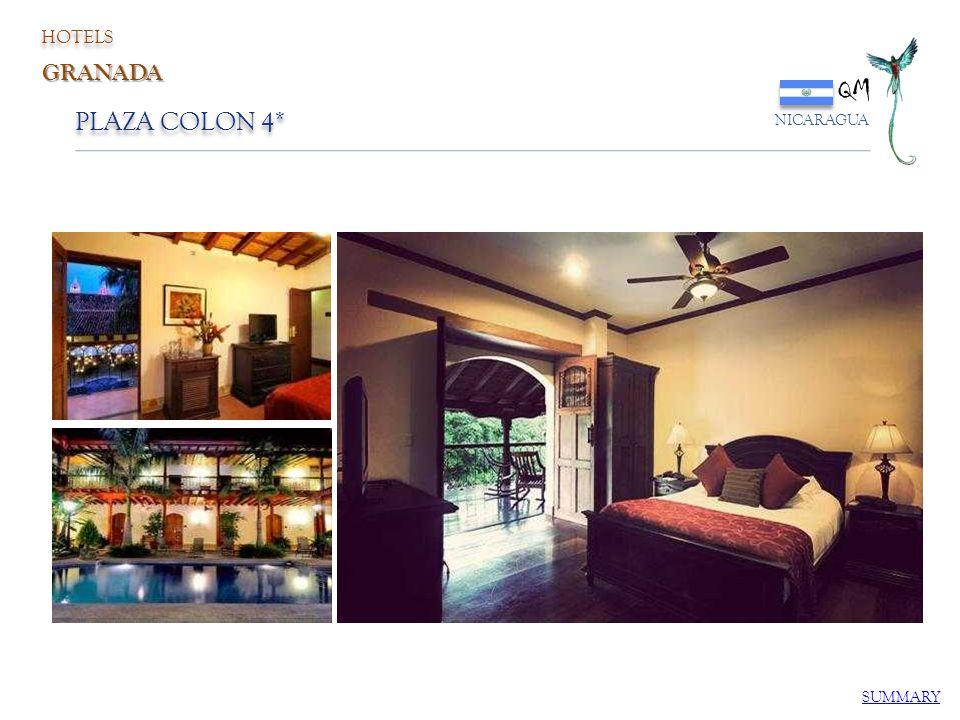 PLAZA COLON 4* QM NICARAGUA SUMMARY HOTELS GRANADA