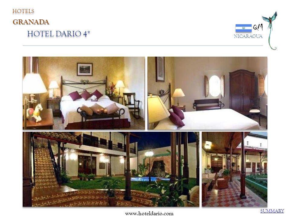 HOTEL DARIO 4* QM NICARAGUA SUMMARY www.hoteldario.com HOTELS GRANADA