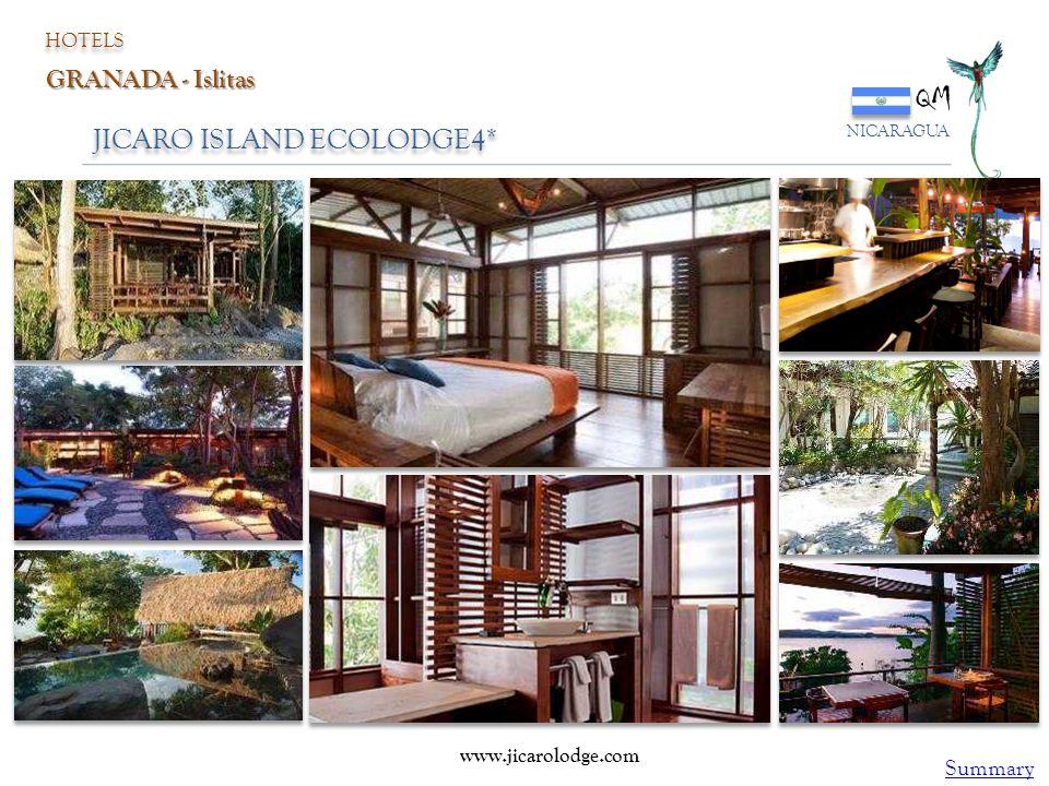 JICARO ISLAND ECOLODGE4* QM NICARAGUA HOTELS GRANADA - Islitas www.jicarolodge.com Summary
