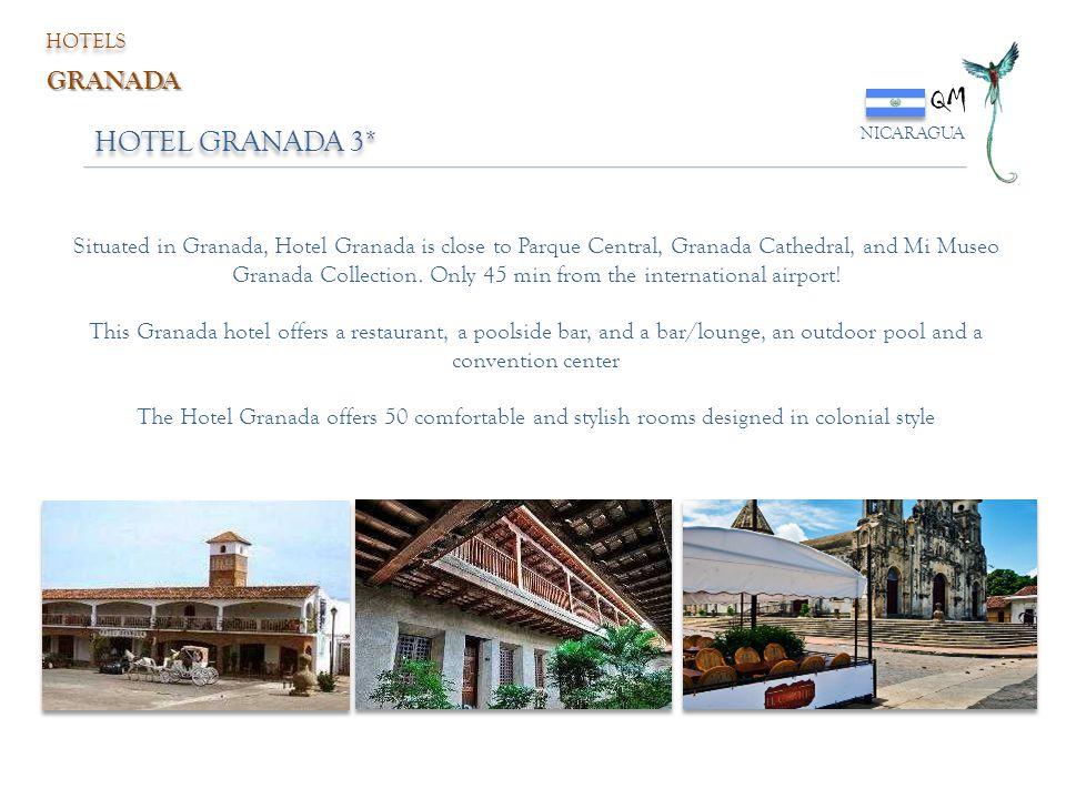 HOTEL GRANADA 3* QM NICARAGUA HOTELS GRANADA Situated in Granada, Hotel Granada is close to Parque Central, Granada Cathedral, and Mi Museo Granada Co